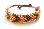 beaded pink green chevron 1a
