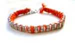 orange rhinestone bracelet 1